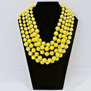 KATE SPADE~cut to the chase~BIB NECKLACE~Citron